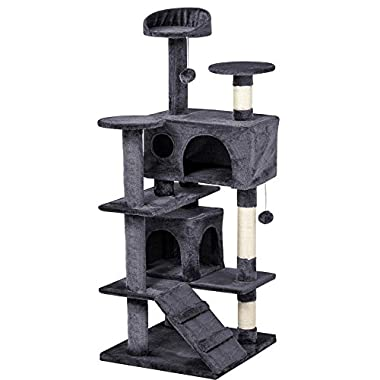 Yaheetech 53.5  Multi-level Cat Tree Scratcher Condo Tower with Scratching Post and Toys