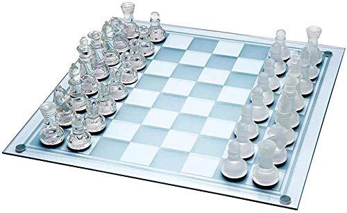 Watch-HLH Ajedrez para Tablero Harry Potter Viaje Conjunto de ajedrez - Ajedrez de Cristal K9 portátil, Muy Adecuado para el Entretenimiento Familiar, Juego de Mesa de Rompecabezas Interactivo