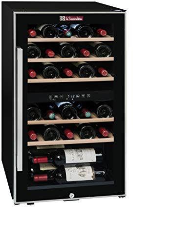 Recipiente de vino de puesta a temperatura La Sommelière ECS30.2Z | 29 botellas - Dos zonas de temperatura | Clase energética A