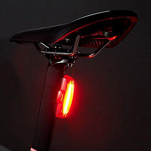 Luz trasera de la bici,Evary Super brillante USB recargable Bicicleta LED luz trasera, Impermeable Luz de seguridad para bicicletas, 30 LED, 6 modos Luz roja Para el ciclismo, cascos o mochilas