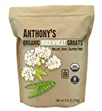 Anthony's Organic Hulled Buckwheat Groats, 5 lb, Raw, Grown in USA, Gluten Free