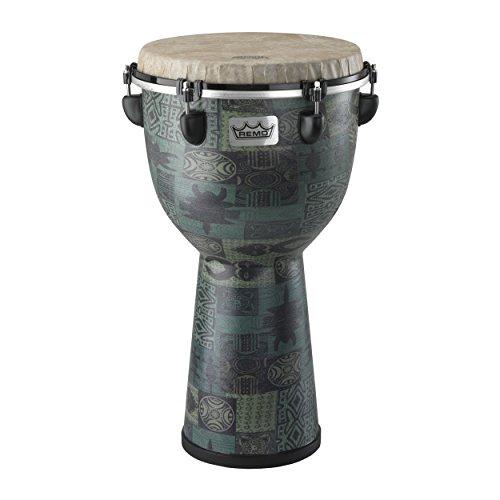 "Remo DJ-6112-32 Apex Djembe Drum - Green Kinte, 12"""