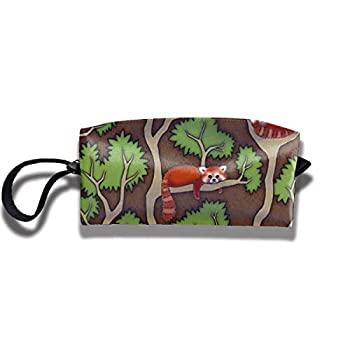 antvinoler Forest Red Panda Makeup Bag Pencil Case Student Stationery Pouch Bag Office Storage Organizer Coin Pouch Cosmetic Bag Gift for Girls Boys and Adults