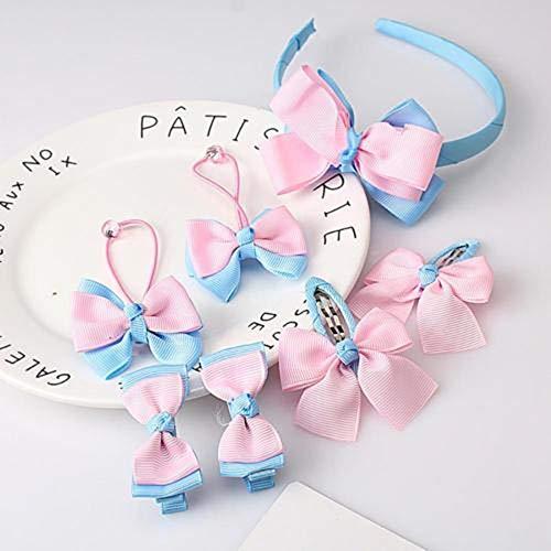 1 juego = 7 piezas lindos accesorios para el pelo de los niños, horquillas para el pelo, coleteros para bebés y niñas (color: 11)