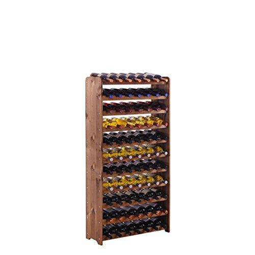"""Weinregal/Flaschenregal System""""Optiplus"""" Modell 4, für 77 Fl, Holzverbundstoff, braun gebeizt"""