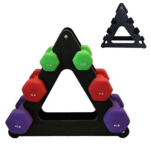 SKK Capacitación 1pcs la Pesa de Soporte de Triángulo de Hojas pequeñas Grandes Hojas de Diferentes Formas con Mancuernas Soporte Fitness Gym Equipment Accesorios Ejercicio (Color : Black)