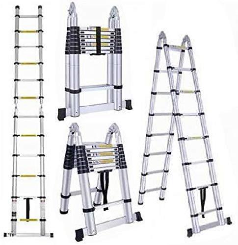Oshion 16. 5ft en131 aluminum telescoping telescopic extension ladder 330 pound capacity