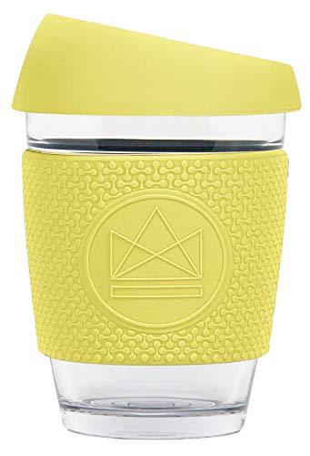 Neon Kactus - Herbruikbare glazen koffiebeker Geel