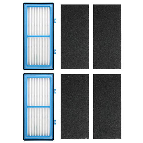 Gaoominy 2 HEPA + 4 Carbon Booster Filters for Holmes AER1 HEPA Type Total Air Filter, For Holmes Air Purifier Filter AER1 Series, Replacement HAPF30AT