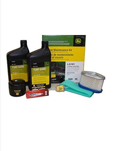 .John Deere Maintenance Kit for LT133, LT150, LT155, LX173, LX255 SST15 GT225 Lawn Mower Filters, Oil LG191