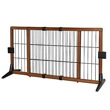 lionto by dibea Barrière de sécurité chiens barrière pour escalier barrière de chiots hauteur 50 cm