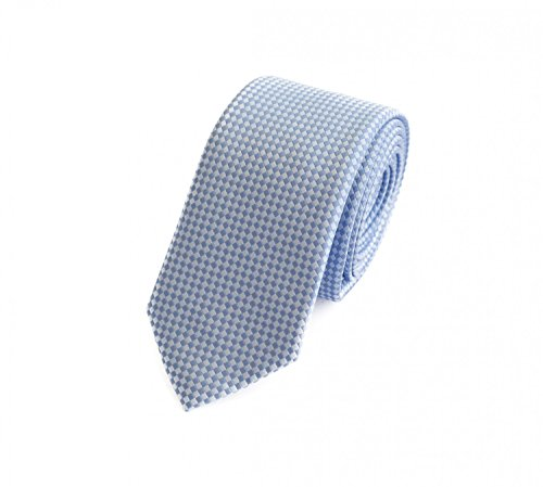 Fabio Farini - Elegante Herren Krawatte kariert in 6cm Breite in verschiedenen Farben für jeden Anlass wie Hochzeit, Konfirmation, Abschlussball Hellblau Weiß