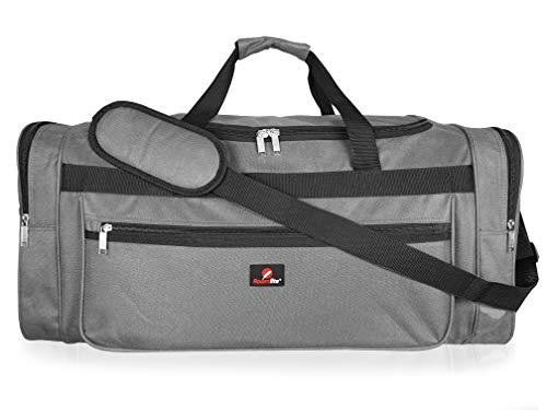 Roamlite Sporttasche Extra Große Wochenend- oder Übernachtungstasche - Ideale Reisetasche – Seesack Tasche - Mehrere Fächer - Maße 66x30x30 cm - RL58GY (Grau)