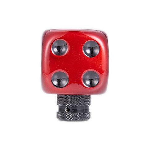 Byrhgood Engranaje del Coche Perilla del Cambio Manual y automático de Coches de palillo de Engranaje Shifter Mando Rojo y Negro Dados Palanca de Cambios