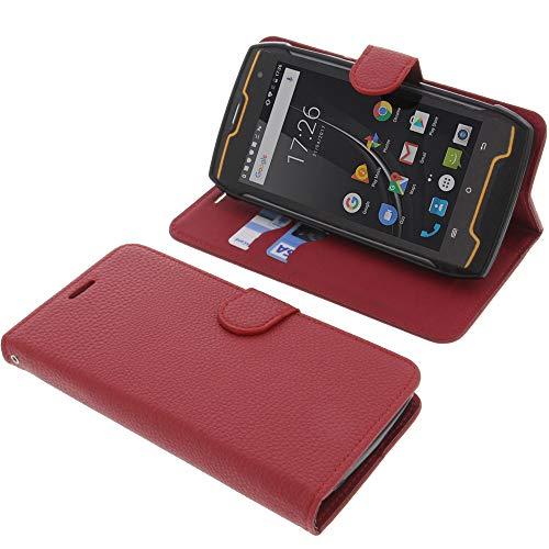 foto-kontor Tasche für Cubot Kingkong Book Style rot Schutz Hülle Buch