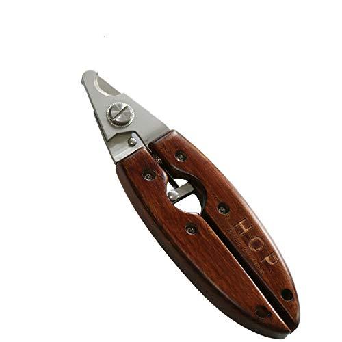 Accessoires voor huisdieren, nagelknipper voor honden, met handvat van massief hout, antiek gereedschap voor katten en honden.