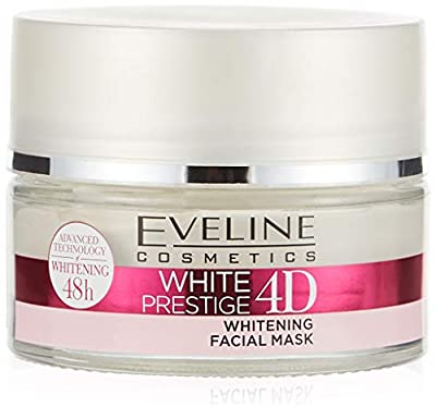 Eveline WHITE PRESTIGE 4D Whitening Facial Mask Non Greasy & Light Formula 50ml