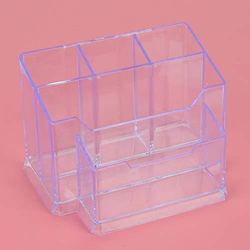 con caja de tarjetas Portabolígrafo transparente para la escuela para accesorios de escritorio
