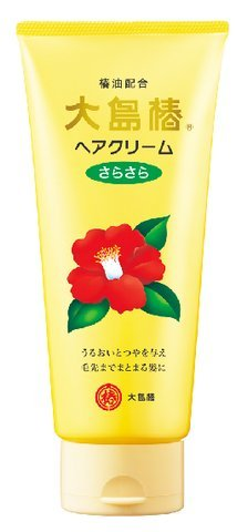 大島椿 ヘアクリーム さらさら 160g 鉱物油フリー、無香料、無着色(椿油配合のヘアクリーム)×48点セット (4970170108102)