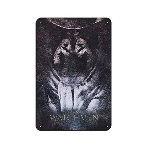 Watchmen Rorschach 10 - Cartel de metal vintage para decoración de pared (20 x 30 cm)