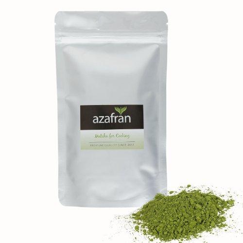 Azafran BIO Matcha Tee Pulver Japan Grüntee Pulver gemahlen aus echtem Tencha 100g