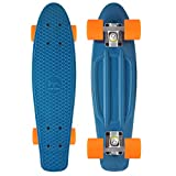 M Merkapa Complete 22 inch Cruiser Skateboard for Youth, Beginners (Jelly Blue)