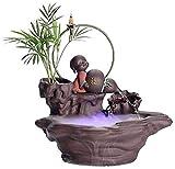 Exquisitos titulares de Incienso de cerámica decoración del Acuario Zen Fuente Que Fluye Quemador de Incienso de Peces