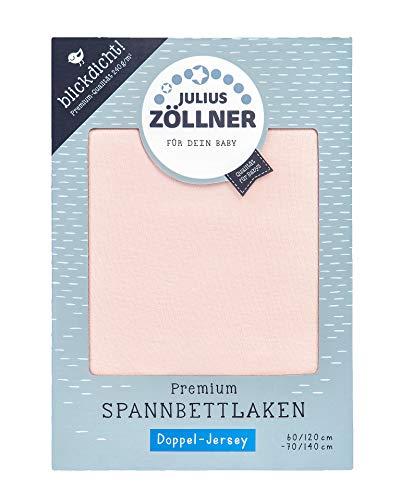 Julius Zöllner 8356157763 Drap-housse en jersey double épaisseur pour lit d'enfant Rose pétrole 60 x 120 et 70 x 140 cm