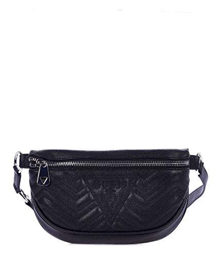 Luxury Fashion | Guess Dames HWVY7478800BLACK Zwart Leer Heuptas | Lente-zomer 20