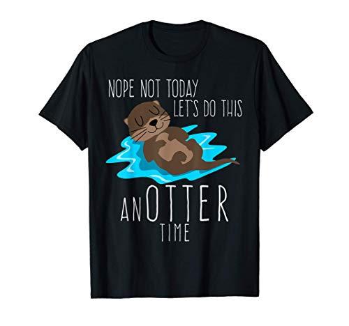 Otter mit Bier - lustiger Spruch T-Shirt