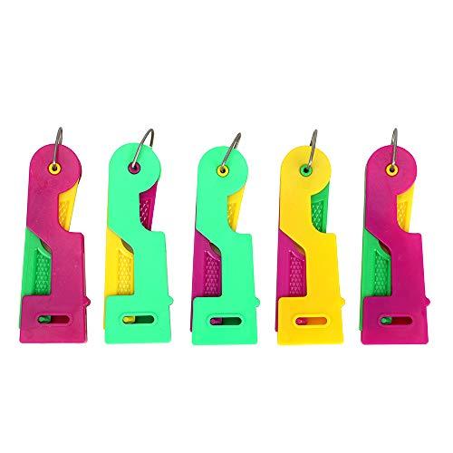 Holdream Nadeleinfädler für Näharbeiten, zufällige Farbe, 5 Stück