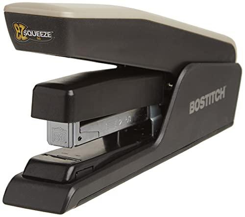 Bostitch EZ Squeeze 50 Sheet Desktop Stapler, Reduced Effort, Black (B850-BLK)