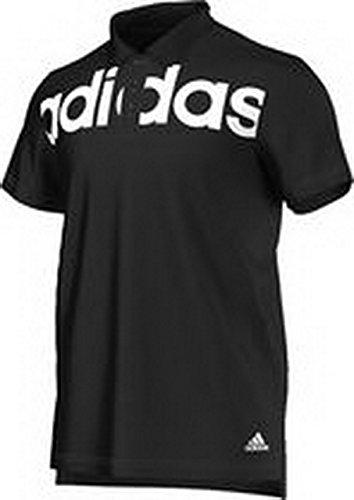 adidas Lin Polo T-Shirt, Maglietta da Uomo, Black/White, XL