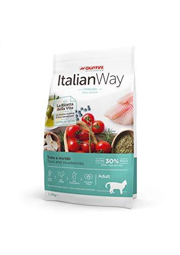 Italian Way Cibo per Gatti Sterilizzato Ideal Weight Trota e Mirtilli - Adult - 1.5 kg