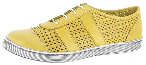 Andrea Conti 1939603, Zapatillas para Mujer, Amarillo (Gelb 051), 39 EU