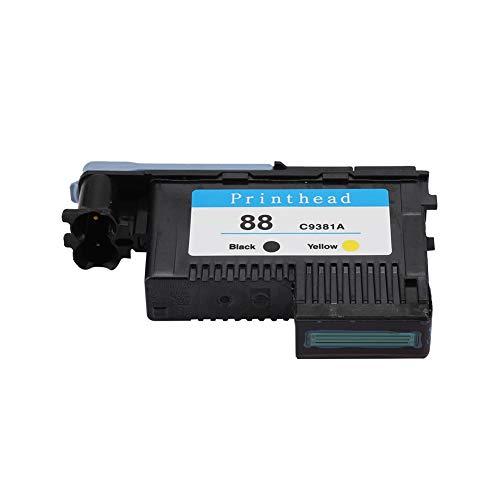 ASHATA HP88 Druckkopf, Hochwertiger Druckerpatrone kompatibler Ersatz Druckkopf für HP 88 C9381A C9382A K5300 K8600 L7380 Serie Drucker (Schwarz+Gelb)