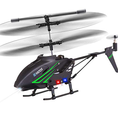 VATOS RC Helicopter, Remote Control Helicopter with Gyro and LED Light 3.5 Channel Alloy Mini Helicopter Remote Control for Kids & Adult Indoor Micro RC Helicopter, Helicopter Toy for Kids|