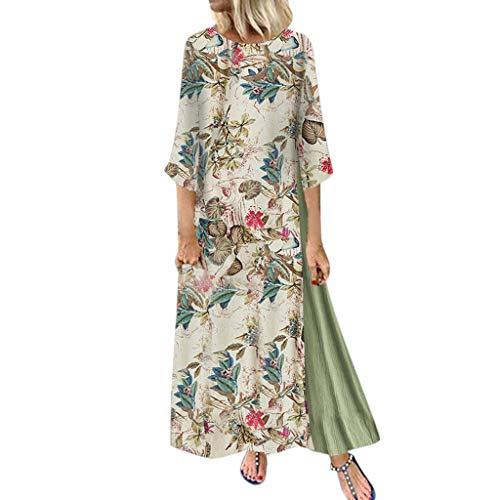 Best Price Long Dresses for Women/African Dresses for Women/Wedding Guest Floral Dresses Elegant Dresses for Women (Green-2, 4XL)