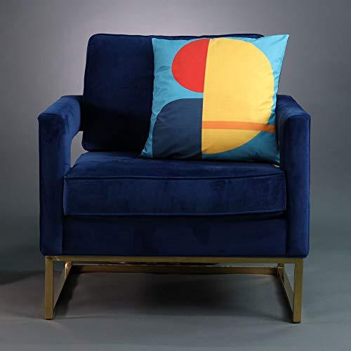 Celina Digby Fluwelen kussensloop Designer Zacht, Geometrisch, Modern formaat 45cm x 45cm (18