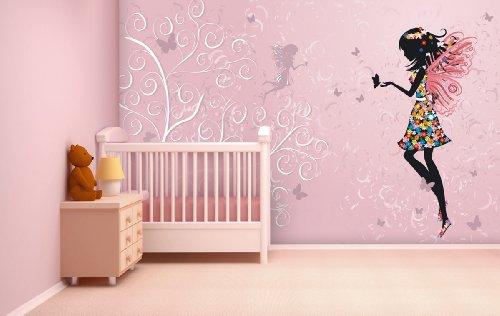 Fototapete Butterfly Fairy in verschiedenen Größen - als Papiertapete oder Vliestapete wählbar - PVC frei, geruchloser, umweltfreundlicher Latexdruck ohne Lösemittel - Motivtapete Postertapete Bildtapete Wall Mural von Trendwände