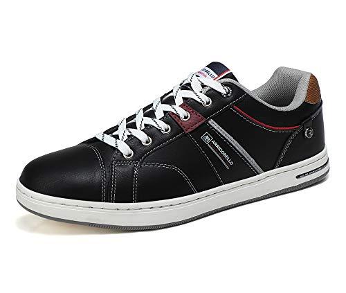 ARRIGO BELLO Zapatos Hombre Vestir Casual Deportivas Zapatillas Sneakers Caminar Correr Deportivas Gimnasio Moda cómodo Viajar Talla 41-46 (Negro, Numeric_43)