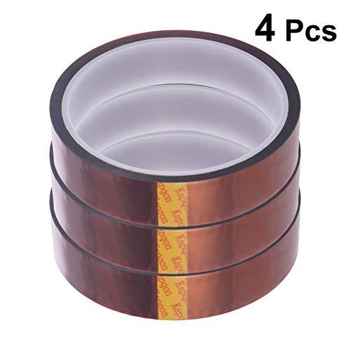Vosarea 4 stücke Hochtemperaturband Hitzebeständiges Klebeband Polyimid Masking Tape Kapton Tape zum Maskieren Löten Pulverbeschichtung Sublimation und Isolieren Leiterplatten