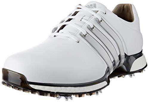ADIDAS TOUR360 XT (Wide), Zapatillas de Golf para Hombre, Blanco (Blanco/Plata Bd7123), 45 1/3 EU
