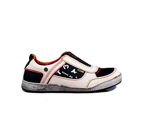 TMA 4104 Herren Halbschuhe Slipper Sneaker Leder weiß alle Größen 41-46 EUR 43