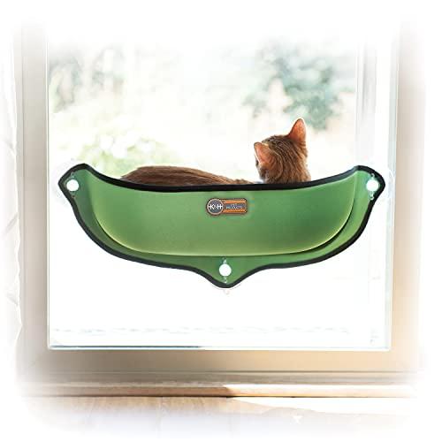 KH 779192 EZ Easy Window Mount Pod, Fensterbank-Katzenbett in Schalenform, grüne Farbe