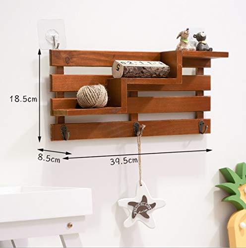 Wandplank Floating Shelf wandplank drijvende planken houten plank wandplank trapeziumvorm houten plank organisator rek voor huis decoratie B