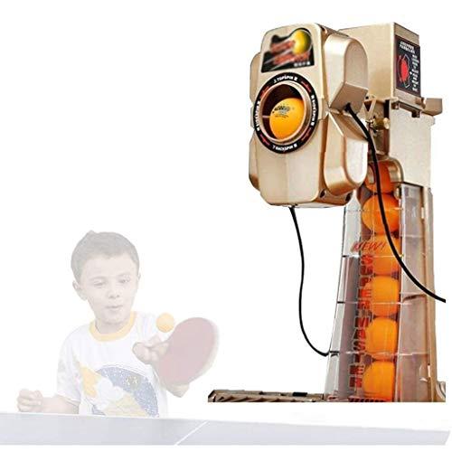 GSS-Rollstühle Tischtennis Roboter mit Ballnetz 37 Schleuderfunktionen, automatische Ballentladefunktion Doppelkopf-Tischtennis-Tischtennis-Automat