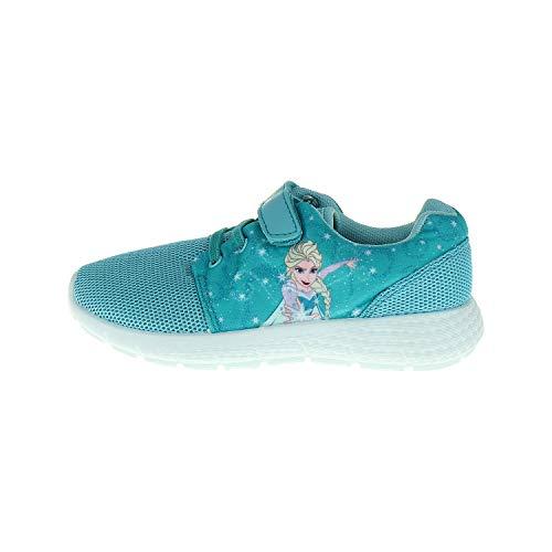 TVM Europe GmbH Frozen ELSA Sneaker Turnschuh für Mädchen Hellblau (Numeric_25_Point_5)