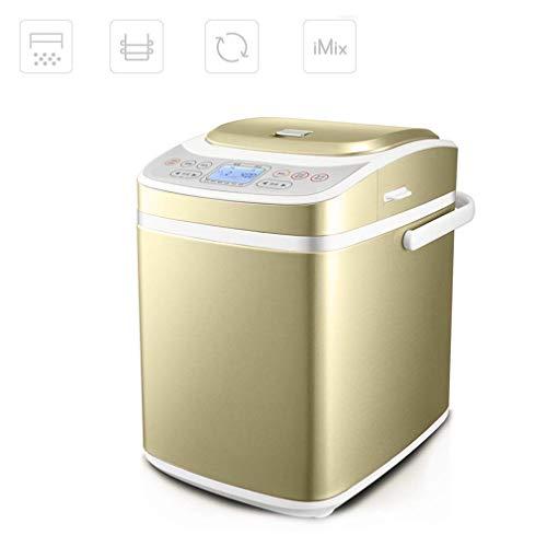ZKZK Sorbete Machine Máquina de Pan, Pan Tostado Inteligente Desayuno Hornear Ingredientes Máquina con dispensador automático y Helado Cubo de la Cocina del hogar
