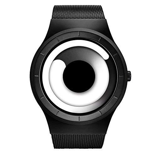 Sinobi Analog – Digital Herren Sportuhr Quarz Elektronische Uhr mit Alarm Stoppuhr LED Hintergrundbeleuchtung und schwarzem Gummiband (S9659G05-Black/White)